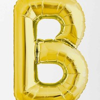 Gold Letter B Party Balloon - Urban Outfitters