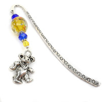 Grateful Dead Bear Beaded Bookmark: Hippie, The Sixties, Music Lover BK38