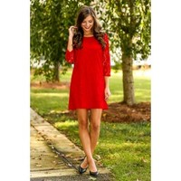 EVERLY:A Beautiful Life Dress-Red Dress Red