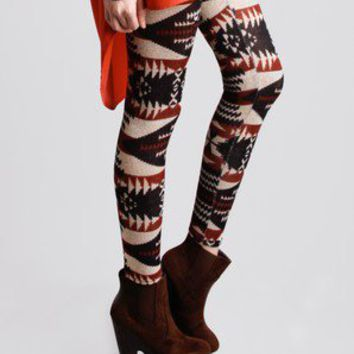 Cheyenne Graphic Legging @ FrockCandy.com