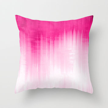 Pink Throw Pillow by Ornaart