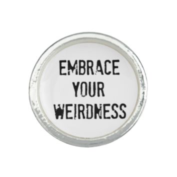 Embrace Your Weirdness Photo Rings