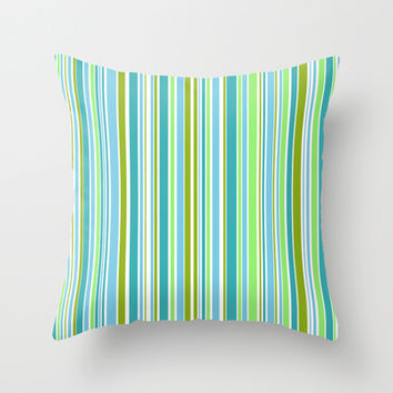 Candy Stripe 1 Throw Pillow by Alice Gosling