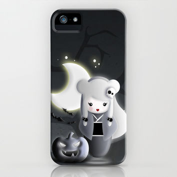 Halloween Theme [Ghost Japanese Kokeshi] iPhone & iPod Case by cafelab