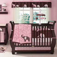 Pink Elephant Bedding by Carters - Elephant Baby Crib Bedding - c203bed4