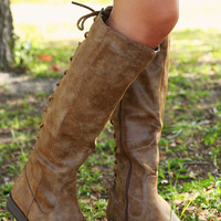Through The Looking Glass Boots: Tan