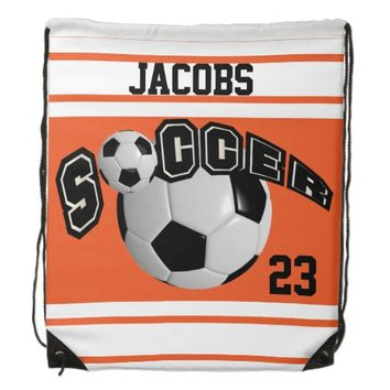 Personalize Soccer Team Backpacks | Orange