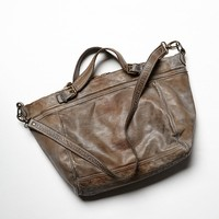 Free People Womens Wyatt Leather Tote - Patina One
