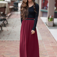 In the Spotlight Maroon Skirt – Dress Up