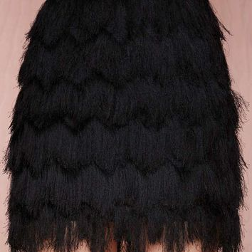Joa Let's Hang Fringe Skirt
