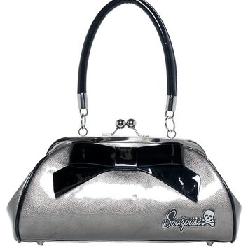 """Super Floozy"" Purse by Sourpuss Clothing (Gunmetal)"