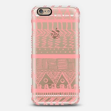 Coral Boho Aztec Transparent iPhone 6 case by Organic Saturation | Casetify