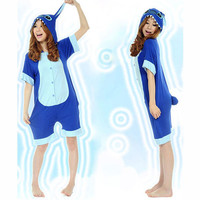 Kigurumi Costumes Cute Stitch Blue Cotton Kigurumi Costume Animal Pajamas [C20120722] - $46.99