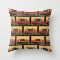 Awesome transparent mix cassette tape volume 1 iPhone 4 4s 5 5c 6, pillow case, mugs and tshirt Throw Pillow by Three Second