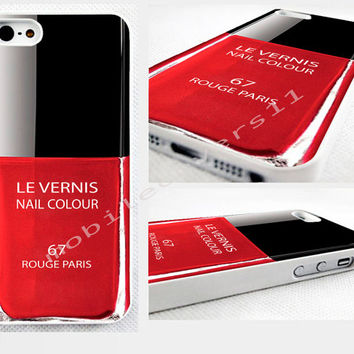 red nail polish phone cover iPhone 4,4s 5,5s 5C,6,6 plus, available for samsung galaxy, galaxy mini