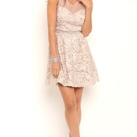 Floral Texture Short Homecoming Dress with Illusion Bodice