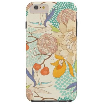 Modern Peony Flower Pattern iPhone 6 Plus Case