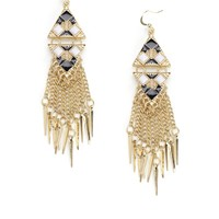 Textured Frige Earring - Accessories | Sexy Clothes Womens Sexy Dresses Sexy Clubwear Sexy Swimwear | Flirt Catalog