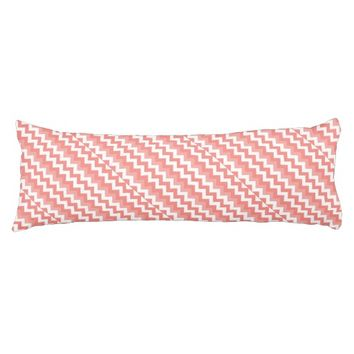 Coral Chevron Body Pillow