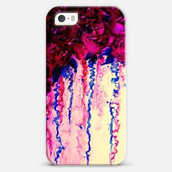 PETALS ON PARADE in OXBLOOD AND BLUE - Bold Colorful Floral Roses Bouquet Abstract Feminine Flowers Romance Girlie Pretty Painting iPhone 5s case by Ebi Emporium | Casetify