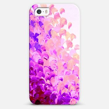 CREATION IN COLOR in LAVENDER - Colorful Pretty Feminine Chic Lilac Eggplant Aubergine Purple Violet Abstract Ocean Waves Beach Splash Painting iPhone 5s case by Ebi Emporium | Casetify