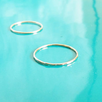 Set of 2 14K Gold Filled Stacking Ring, Best Friend Ring, Gold Dainty Stacking Ring, Simple Ring, Gold Minimalist Ring, Gold Stacking Ring