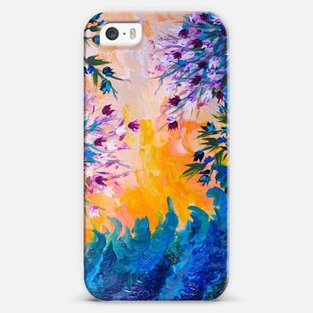 WHATEVER MAY COME - Pretty Purple Blue Yellow Orange Pink Abstract Floral Nature Flowers ocean Waves Splash Swirls Bold Colorful Painting iPhone 5s case by Ebi Emporium | Casetify
