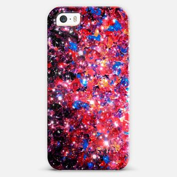 WRAPPED IN STARLIGHT Bold Girly Colorful Pink Purple Blue Sparkle Ombre Galaxy Cosmic Abstract Painting Galactic Cosmos Fine Art Whimsical Stars iPhone 5s case by Ebi Emporium | Casetify