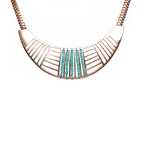 Cutout Tribal Bib Necklace | Wet Seal