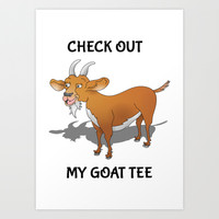 Check out my Goat Tee Art Print by mailboxdisco