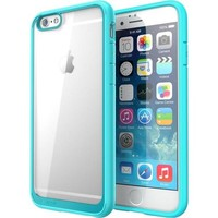 "i-Blason - Halo Series Scratch Resistant Transparent Hybrid Case with TPU Bumper for Apple iPhone 6 4.7"" - Clear Blue - Clear Blue"