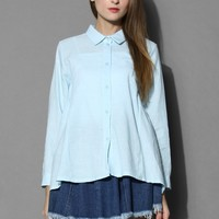 Dolly Flare Shirt in Blue Blue S/M