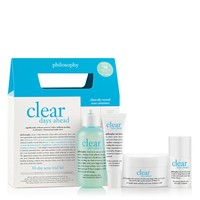 clear days ahead | acne trial kit | philosophy skin care systems
