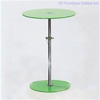 Radinka Modern Design Round Glass Top Coffee Table Green, Round Glass Coffee Table: Nyfurnitureoutlets.com