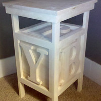 Wood Block Table Great for Kids Bedroom or Playroom