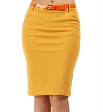 mustard yellow belted pencil skirt from my wishlist