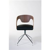 Bernice Contemporary Dining Chairs Walnut (Set Of 2), Dining Room Furniture, Modern Dining Chairs: Nyfurnitureoutlets.com