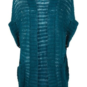 Kerry Slouch Cardigan in Teal