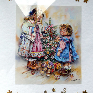 Christmas Card - Happy Christmas Hand-Crafted 3D Decoupage Card - Happy Christmas (1772)