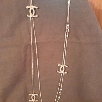 XL Wrap Opera CC LOGO Necklace CHANEL Inspiration Made in the USA