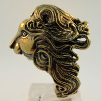 Bronze Pride Lion Ring