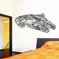 Wall Decal Vinyl Sticker Decals Art Home Decor Murals Star Wars Millennium Falcon Children Nursery Room Bedroom Office Window Dorm AN236