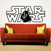 Wall Decal Vinyl Sticker Decals Art Home Decor Murals Star Wars Logo Darth Vader Children Nursery Room Bedroom Office Window Dorm AN239