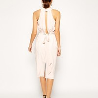 ASOS Halter Neck Roseskin Dress