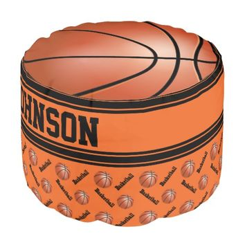 Basketball Orange Sport Pattern