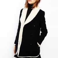 BA&SH Soleil Canvas Pea Coat