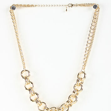 Coiled Curb Link Necklace