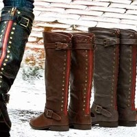 Super Chic Back Studded Riding Boot!
