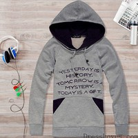 New Style Cotton Grey Men Hoodies M/L/XL@dat0083