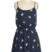 ModCloth Mid-length Spaghetti Straps A-line When the Going Gets Tusk Dress